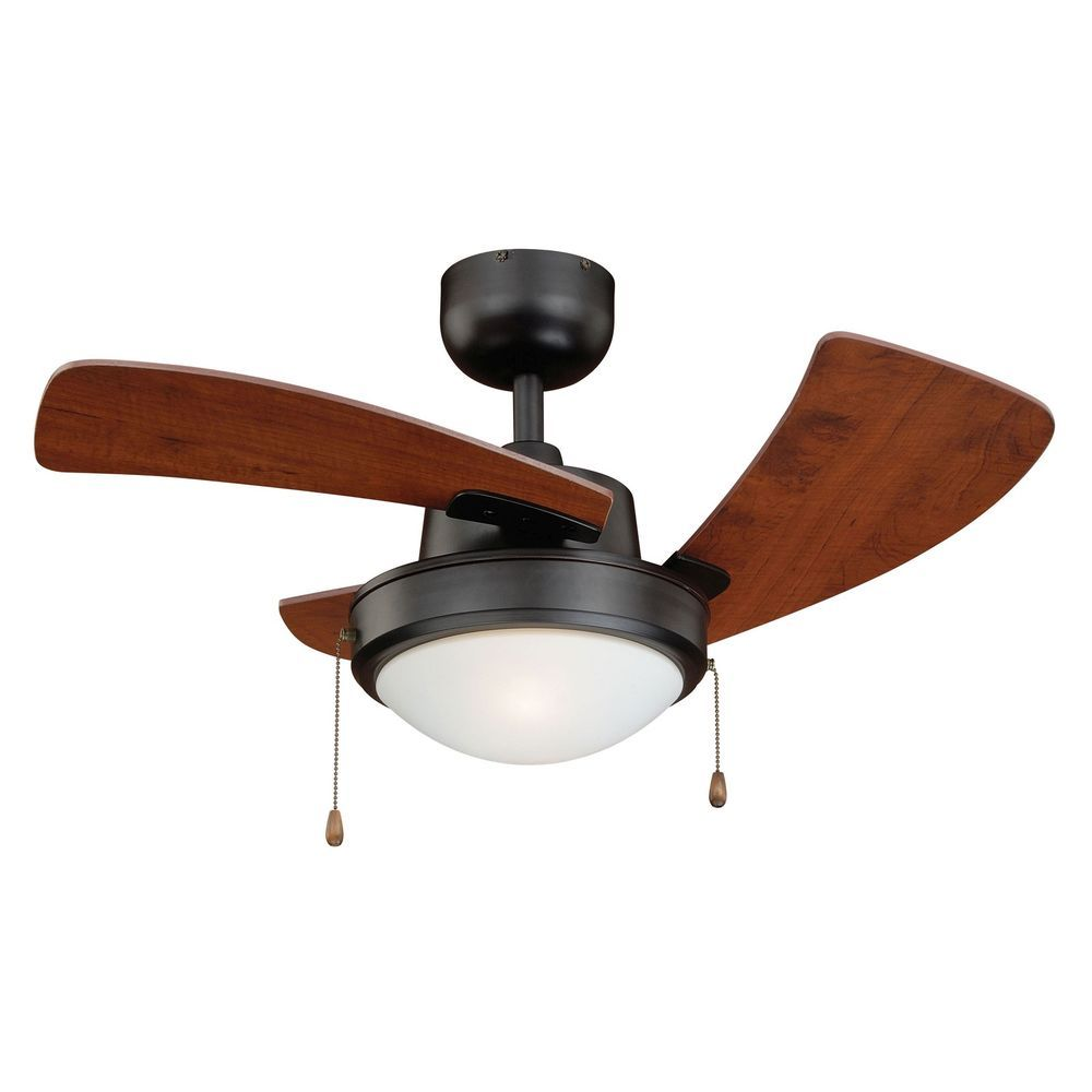 36 Inch Bronze Contemporary Ceiling Fan W Light Kit Pull Chain Vaxcel F0040