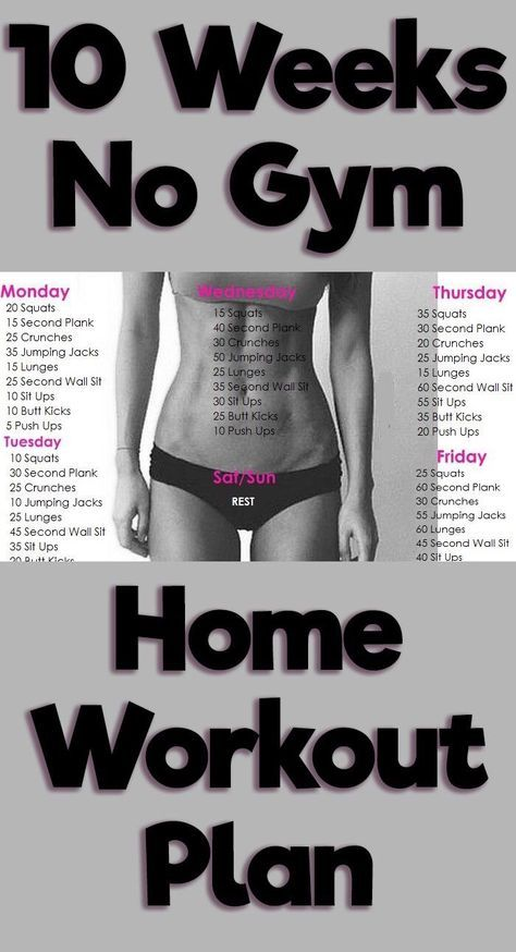 10 Week No Gym Home Workout Plan Daily Exercise Routines Daily Workout At Home Workout Plan