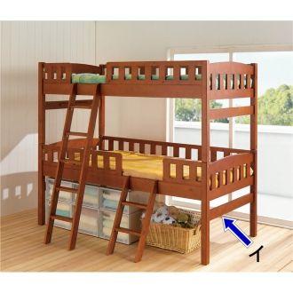 使い勝手で選べるママにやさしい天然木2段ベッドシリーズ・下の収納