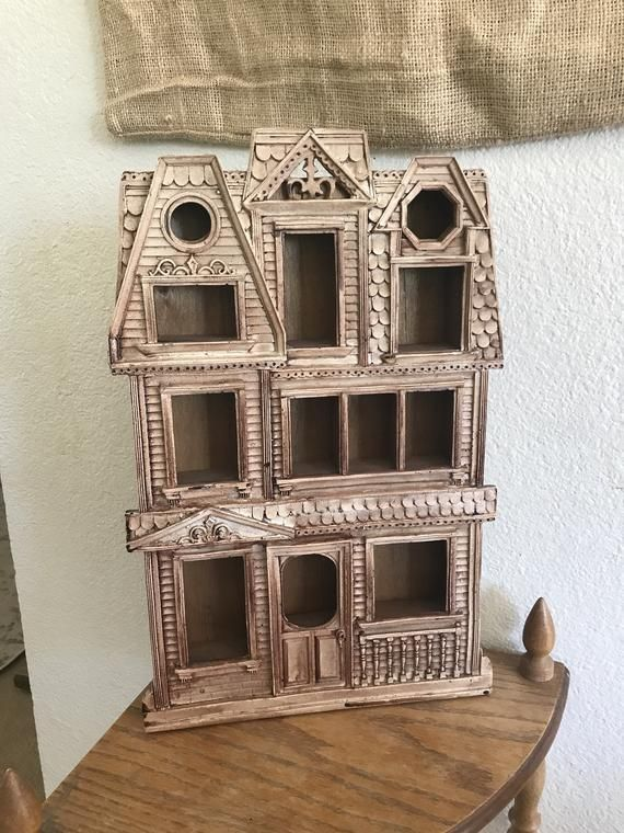 Antique Knick Knack House Shelf Ornate Haunted Mansion Southern Victorian Wooden Wall Hanging Decor #knickknack