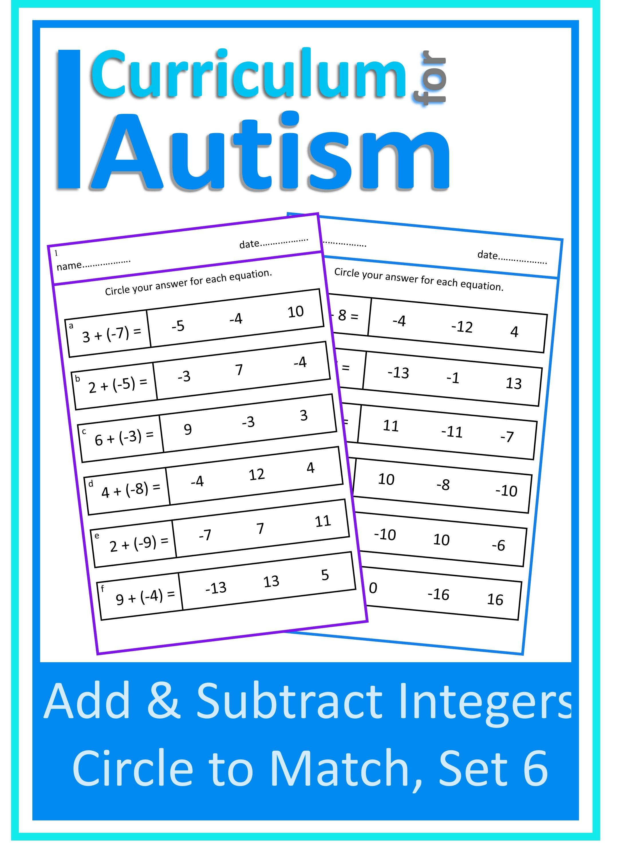Addition Amp Subtraction Of Integers In