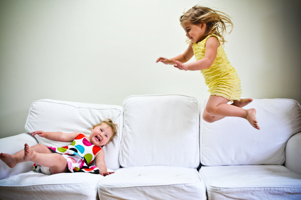 Image result for kids jumping on furniture