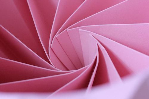 Pink Chestnut Paper Origami Lampshade by Snowpuppe