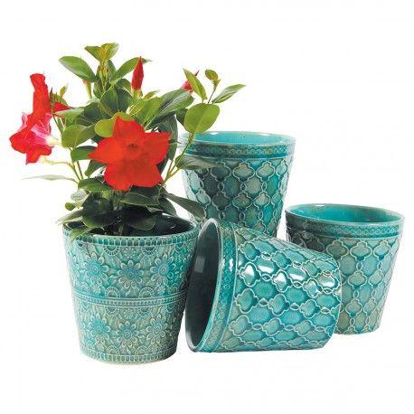 Cache-Pot Turquoise | Pots et cache pots | Pinterest