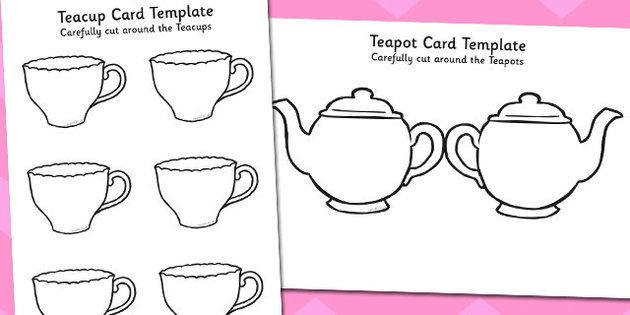 MotherS Day Card Blank Teapot Card Craft  Mothers Day Card