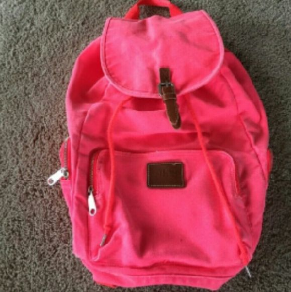 Victoria secret backpack Hot pink Victoria secret backpack in excellent condition!! Victoria's Secret Bags Backpacks