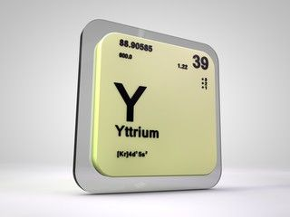 Yttrium y chemical element periodic table 3d render dr eric yttrium y chemical element periodic table 3d render urtaz Images