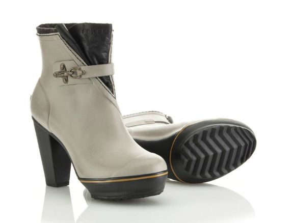 "Sorel ""Medina"" rain heel, $149; sorel.com How to do rain boots right! Loverly!"