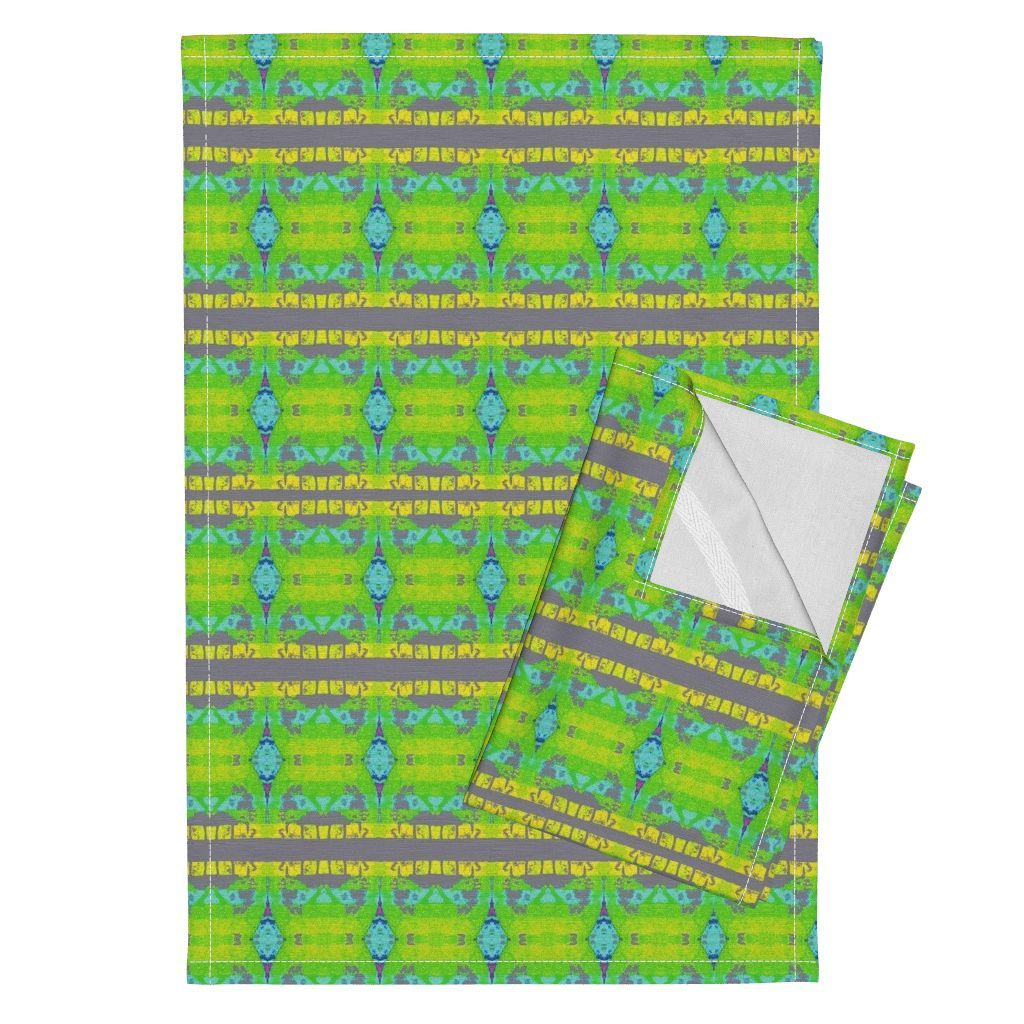 Orpington Tea Towels featuring KRLGFabricPattern_79I10aLRG by karenspix | Roostery Home Decor