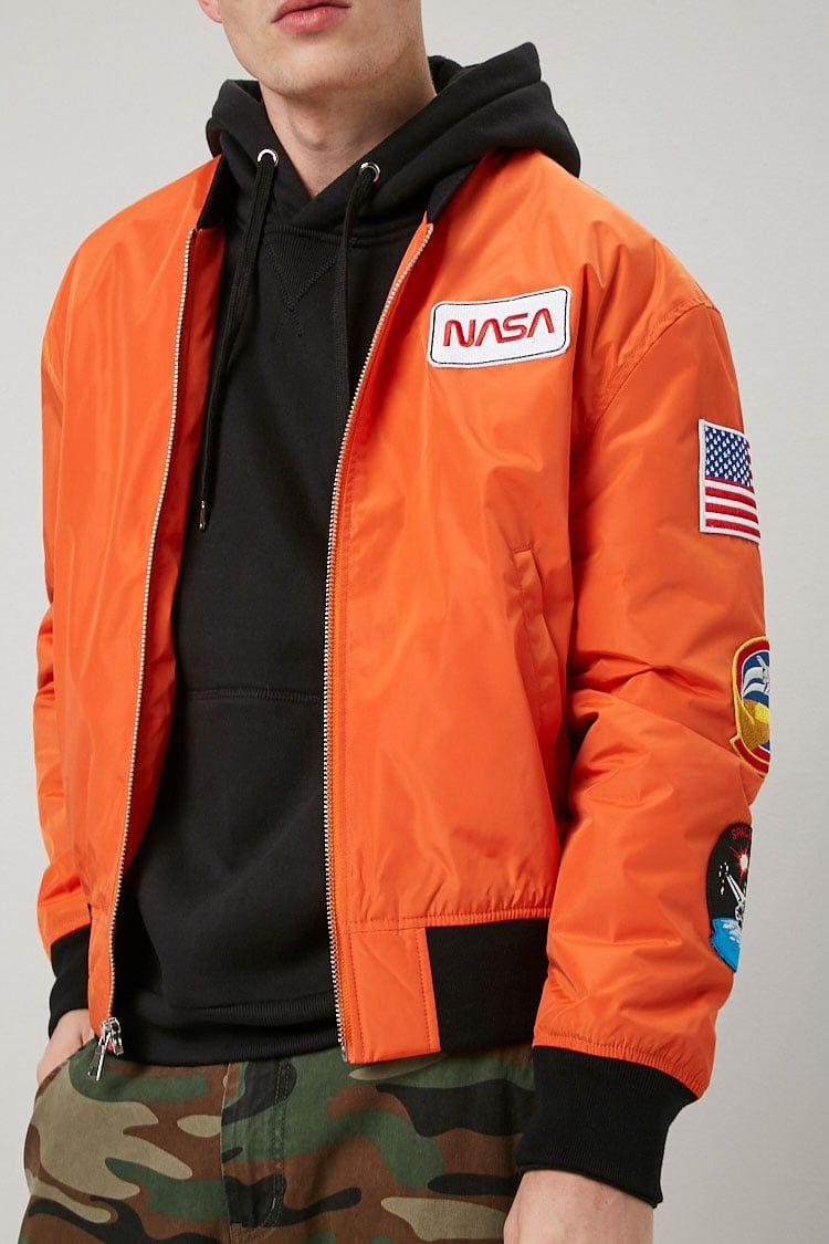 Nasa Graphic Bomber Jacket Forever 21 Nasa Clothes Nasa Jacket Hoodie Outfit Men [ 1125 x 750 Pixel ]