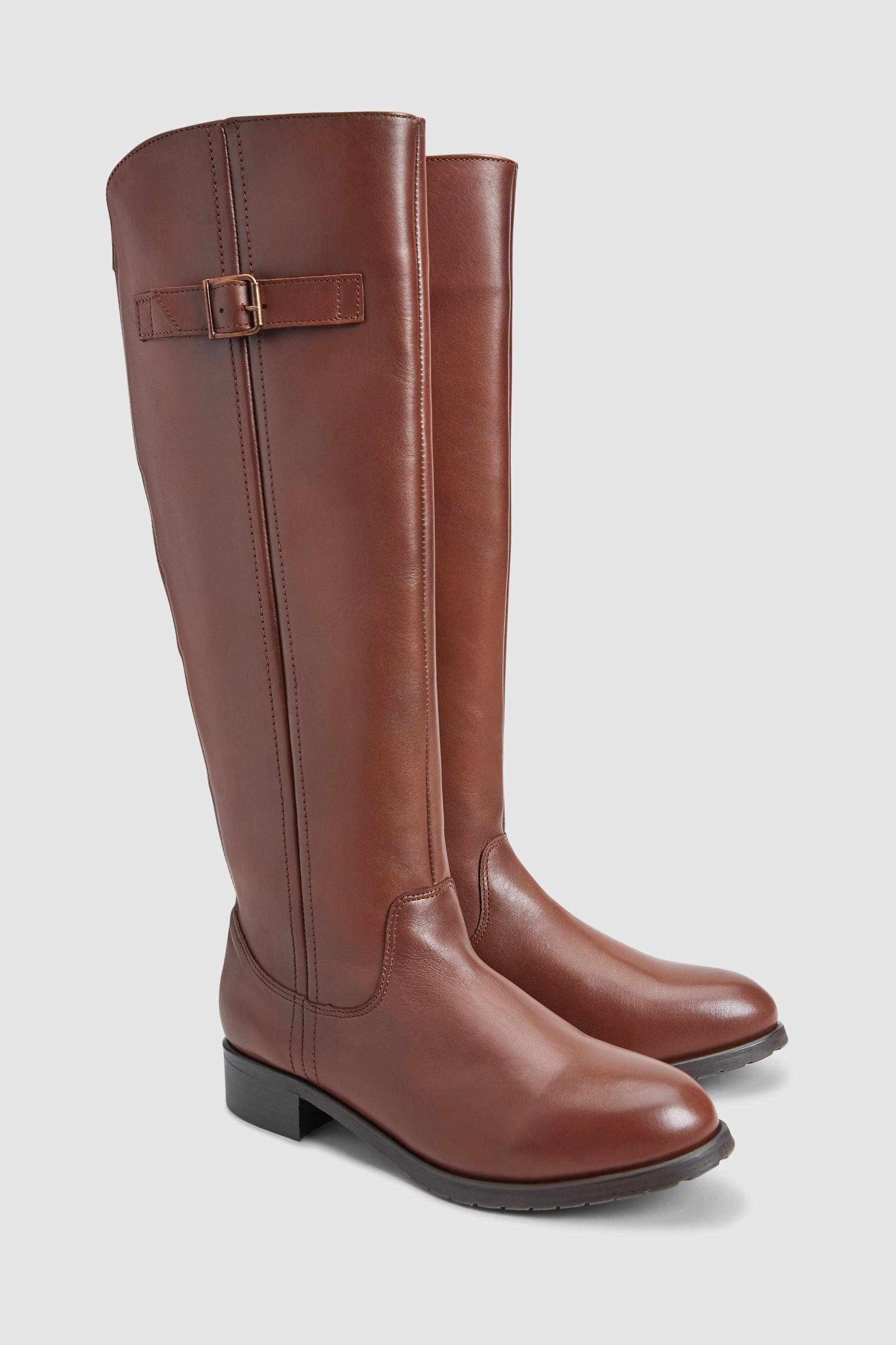 185b067e86d Womens Next Dark Tan Forever Comfort Classic Rider Boots - Brown ...