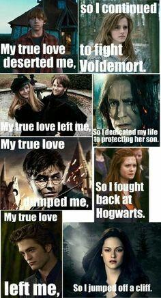 Pin By Tamara Doran On Harry Potter Harry Potter Twilight Harry Potter Vs Twilight Harry Potter Jokes
