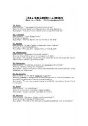 work sheets great gatsby - Google Search | the great gatsby | Pinterest