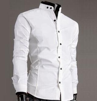 ef985c19 Mandarin Collar Shirt for Men in 2019 | mans style | Mandarin collar ...