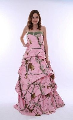 c588eed165950 Splendid Sweetheart Floor-length Pink Camo Wedding Dress | Camo Life ...