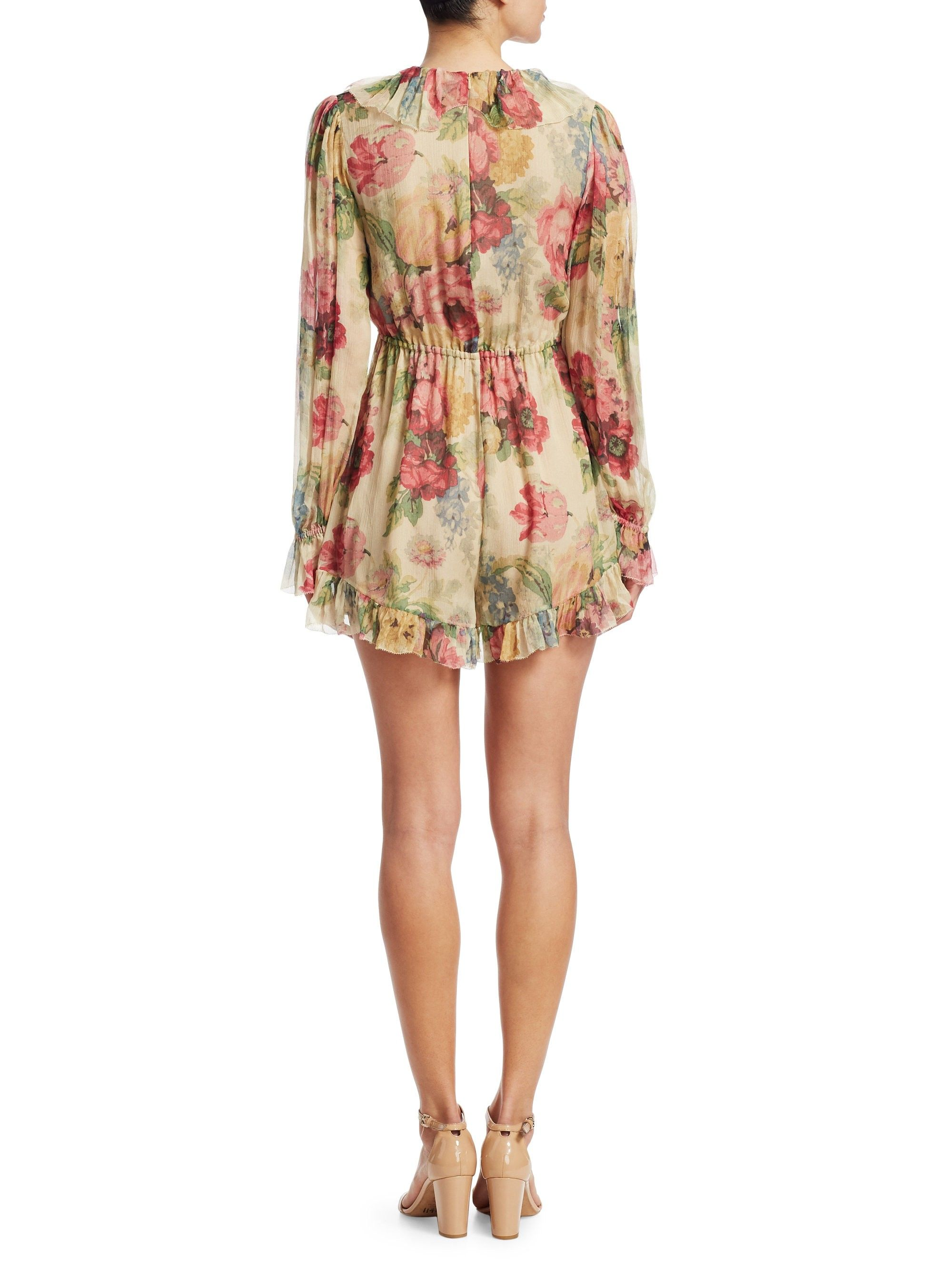 1650c45c23 Zimmermann Melody Floating Playsuit - Taupe Floral 1 (4-6)