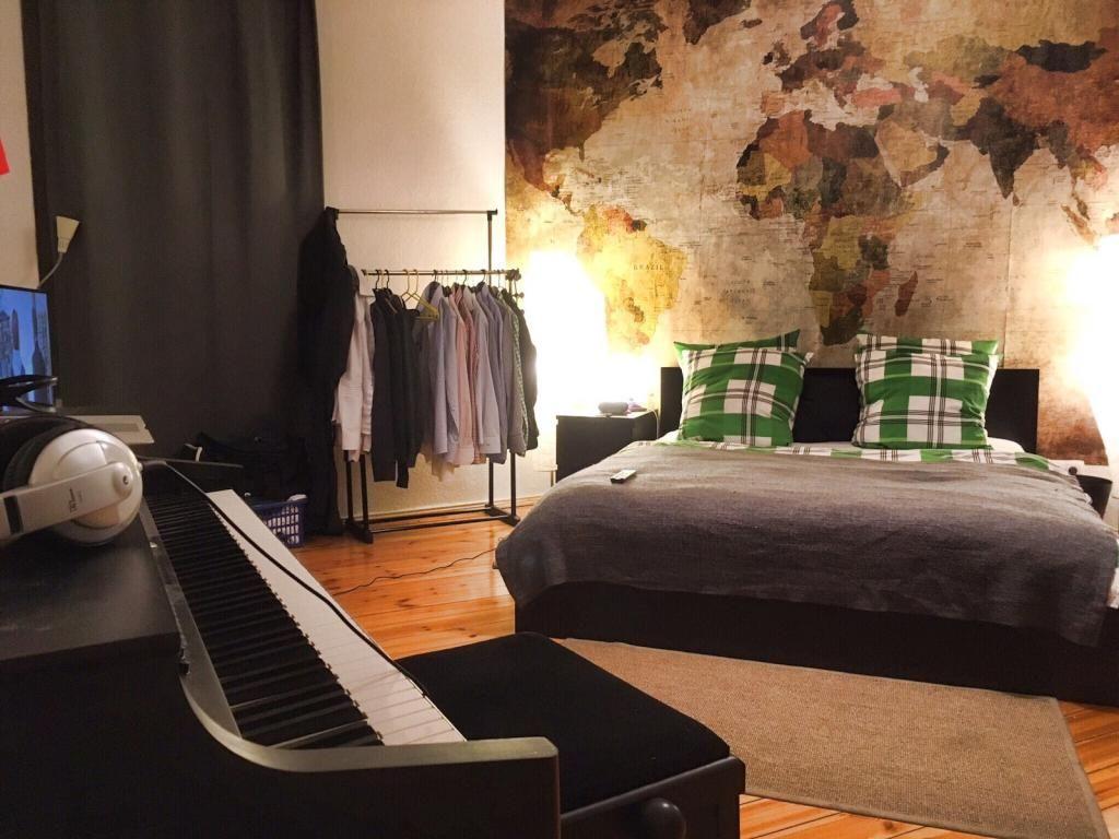 Zimmerpflanzen Schlafzimmer ~ Helles gemütliches schlafzimmer in berliner altbauwohnung