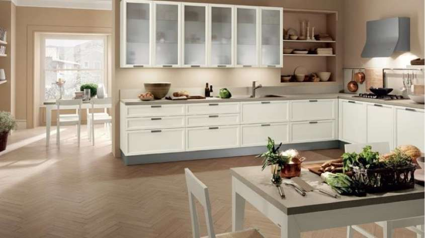 colori pareti cucina - Abbinamento tinte chiare