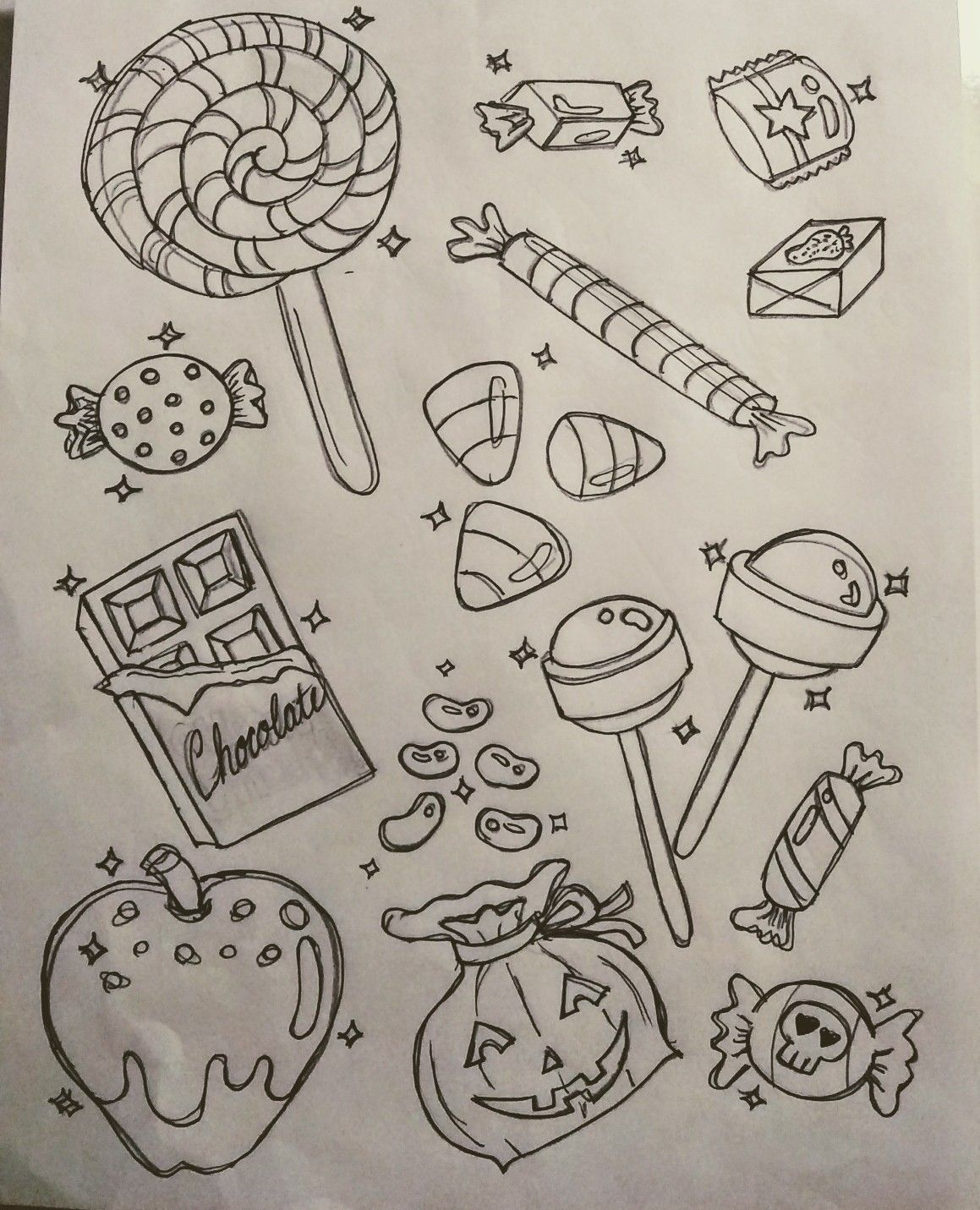 Halloween Candy TrickorTreat sweets candies Doodles