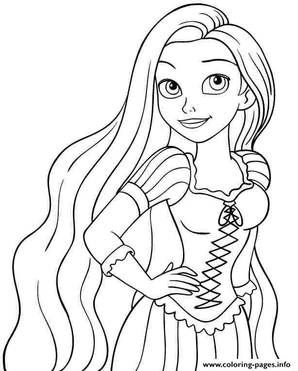 Print Baby Princess Disney Rapunzel Coloring Pages Disney Princess Coloring Pages Princess Coloring Sheets Tangled Coloring Pages