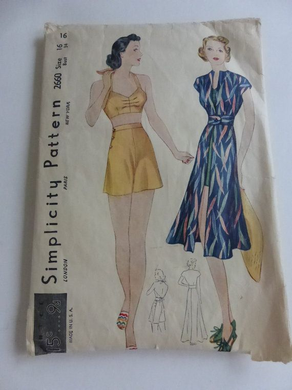 Antique Simplicity Pattern 2660 Misses by VintagePatternDrawer, $15.95