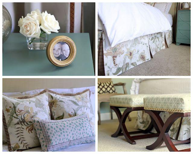 after of an e-design master bedroom LOVE the Bed skirt design'