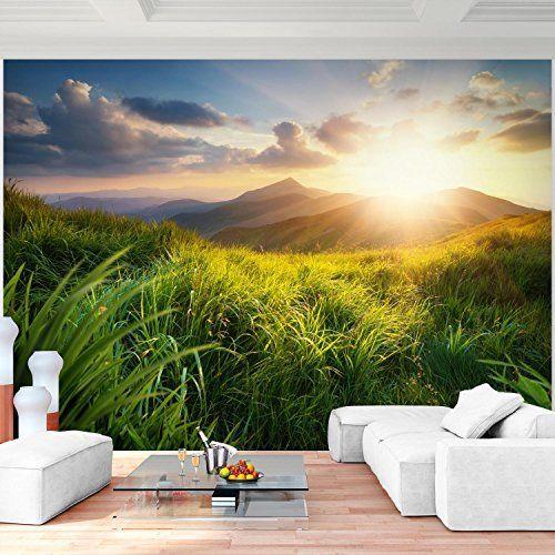 Fototapete Berge 352 x 250 cm - Vliestapete - Wandtapete - Vlies