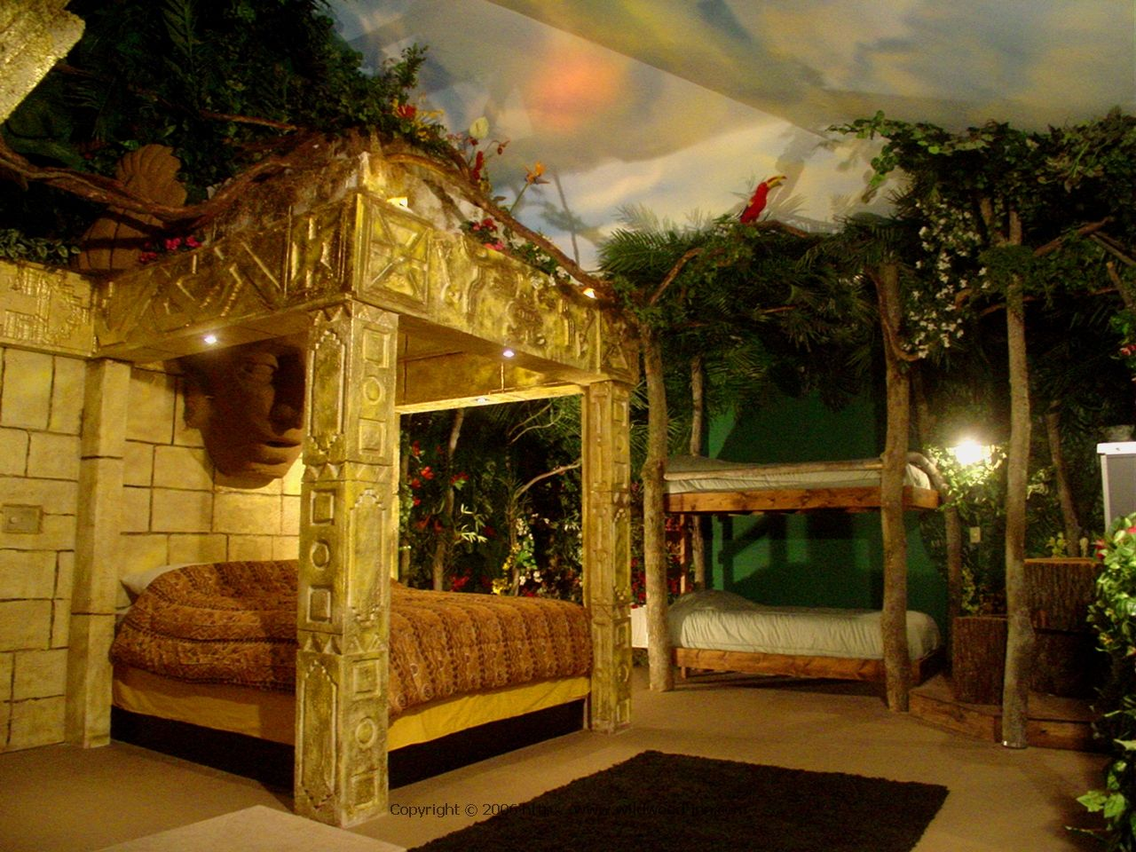 #Aztec #Jungle #Rooms #Accomodation #Themes #WildWoodInnTropicalDome.  Jungle RoomThemed RoomsAztecTheme Bedrooms