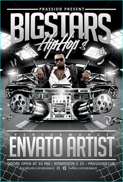Hip Hop Flyer Template  Party Flyer Templates For Clubs Business