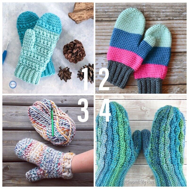 how to crochet mittens for kids