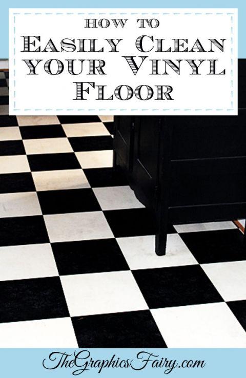 My Secret Tip How To Clean Vinyl Floors Easily Graphics Fairy - Floor cleaner for vinyl flooring