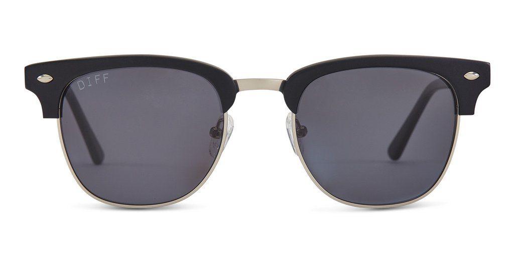 Barry matte black frame grey lens diff eyewear 1