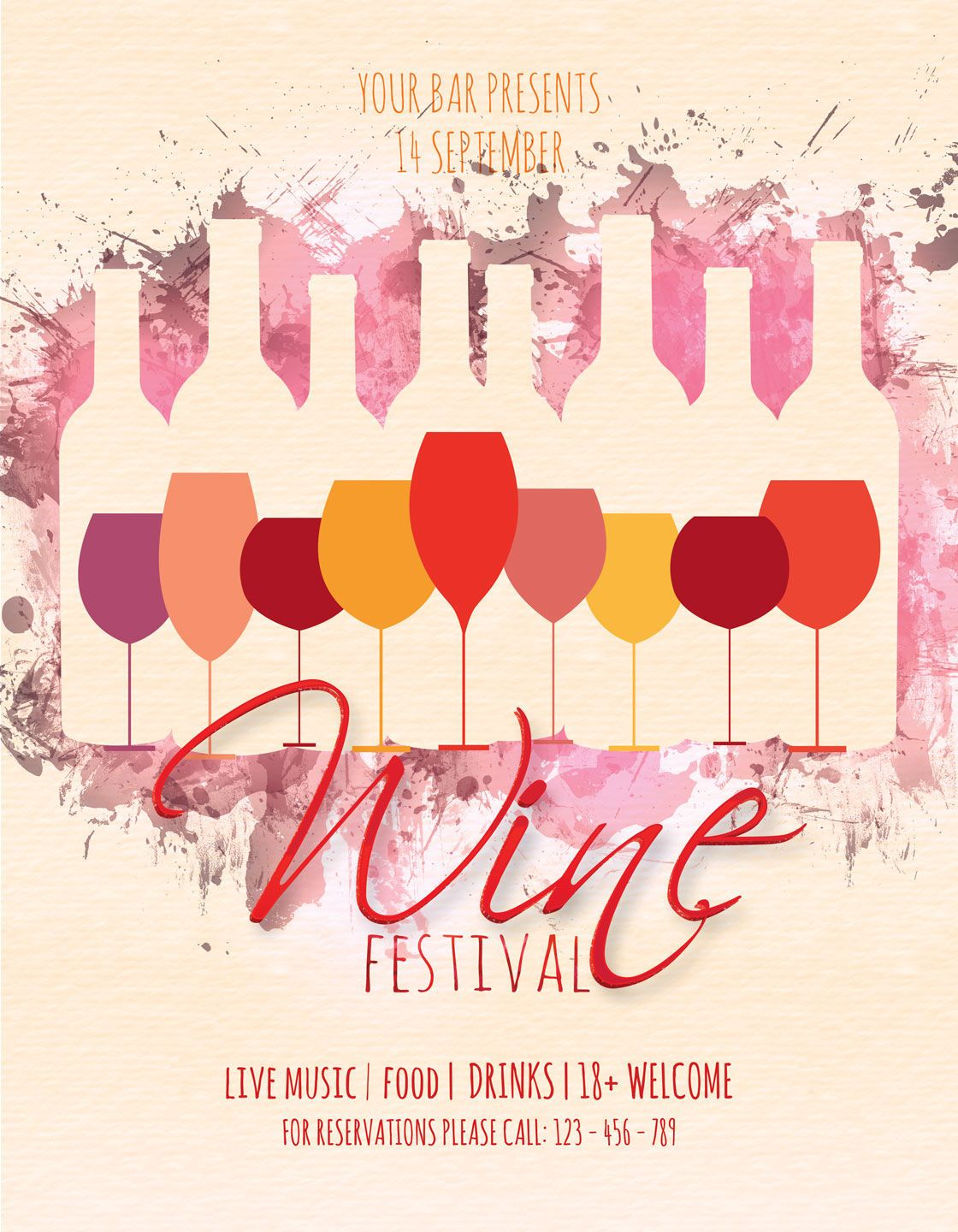 Wine Festival Flyer And Poster By Artolus Thehungryjpeg Com Flyer Affiliate Festival Wine Thehungryj In 2020 Art Festival Poster Festival Flyer Wine Festival