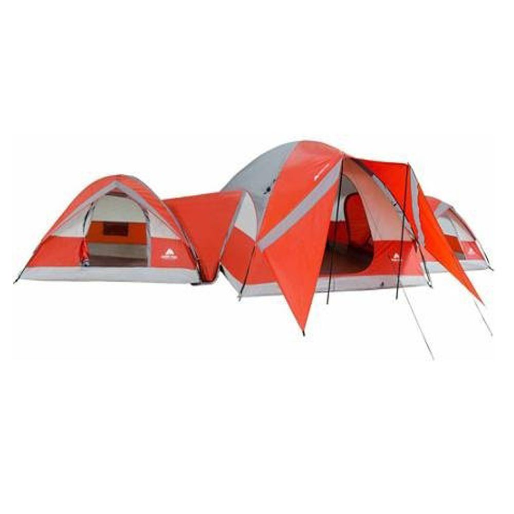 10 Person Connectent 3 Linked Dome Tent Spacious Outdoor Camping Shelter Canopy Hiking Tent Family Tent Camping Dome Tent