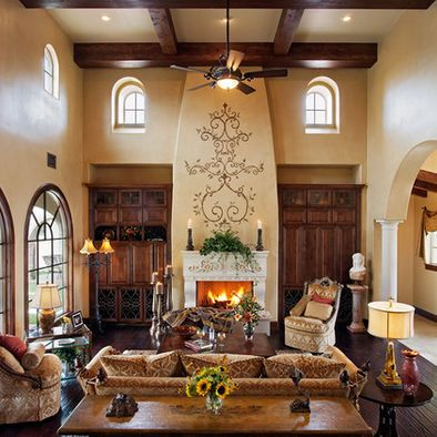 Hacienda Living Room Wall Color Design Pictures Remodel Decor And Ideas Mediterranean Living Rooms Mediterranean Homes Mediterranean Home Decor