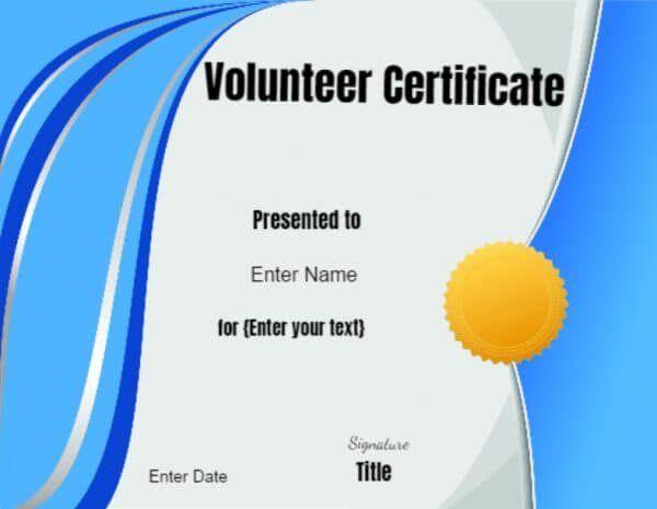 Volunteer Certificate Templates  Rashmi Kanjia
