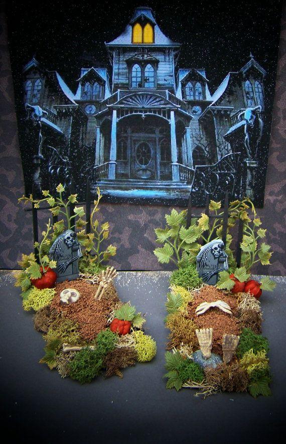 Spooky//Halloween Scene Accessories 1:12 Scale Dollhouse Miniature Wall Decor