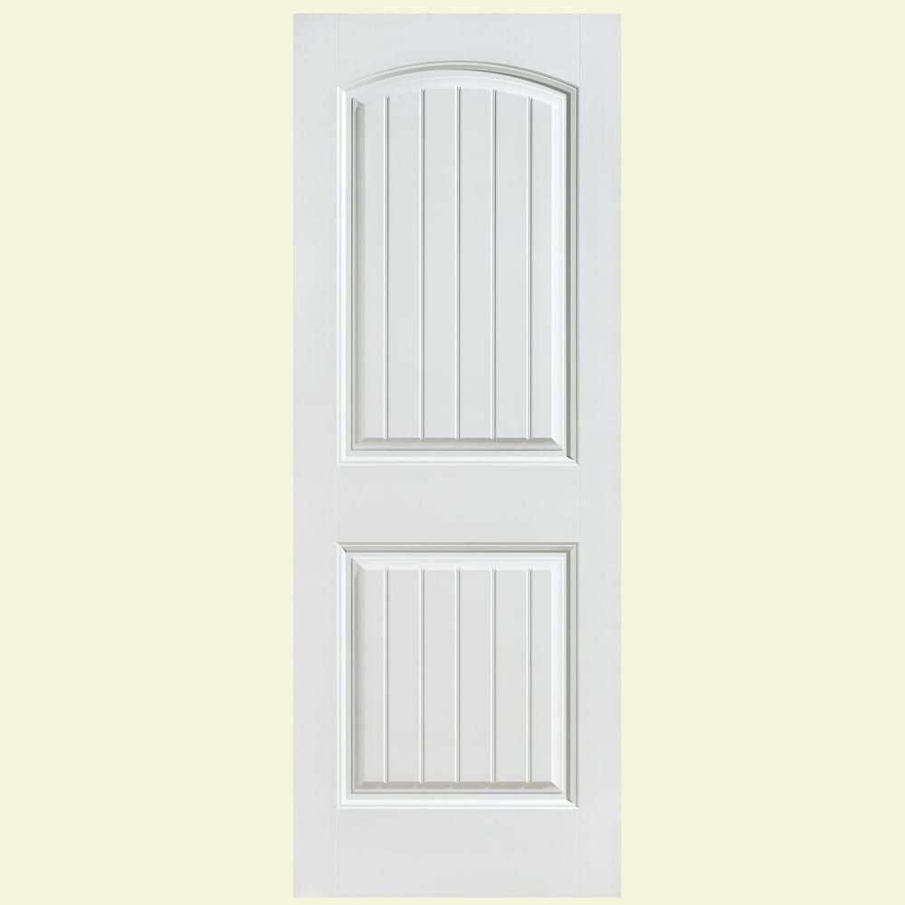 Masonite 32 In X 80 In Cheyenne Smooth 2 Panel Camber Top Plank Hollow Core Primed Composite Interior Door Slab 24898 Masonite Interior Doors Interior Door Styles Interior Barn Doors