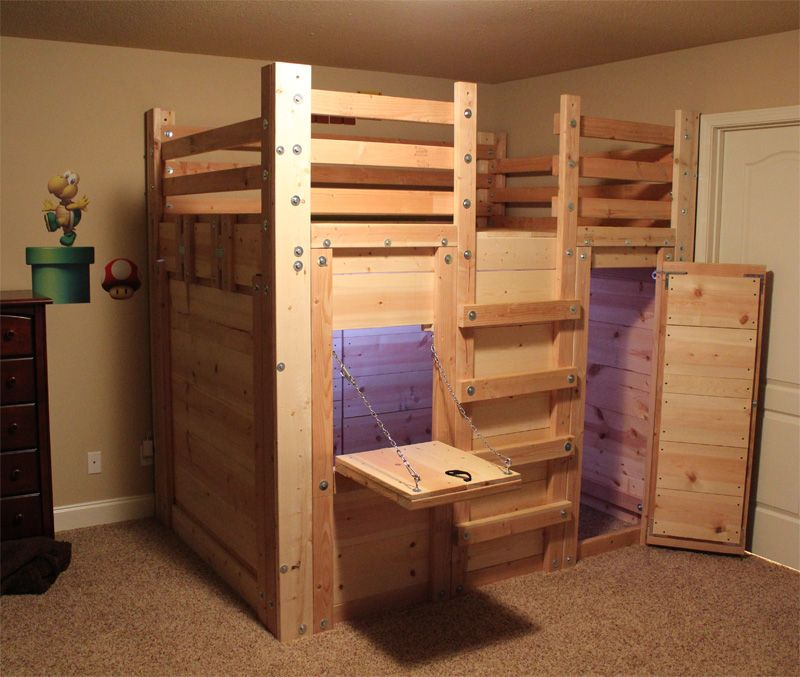 Kids loft bed plans the bed fort bed forts pinterest for Bedroom loft plans