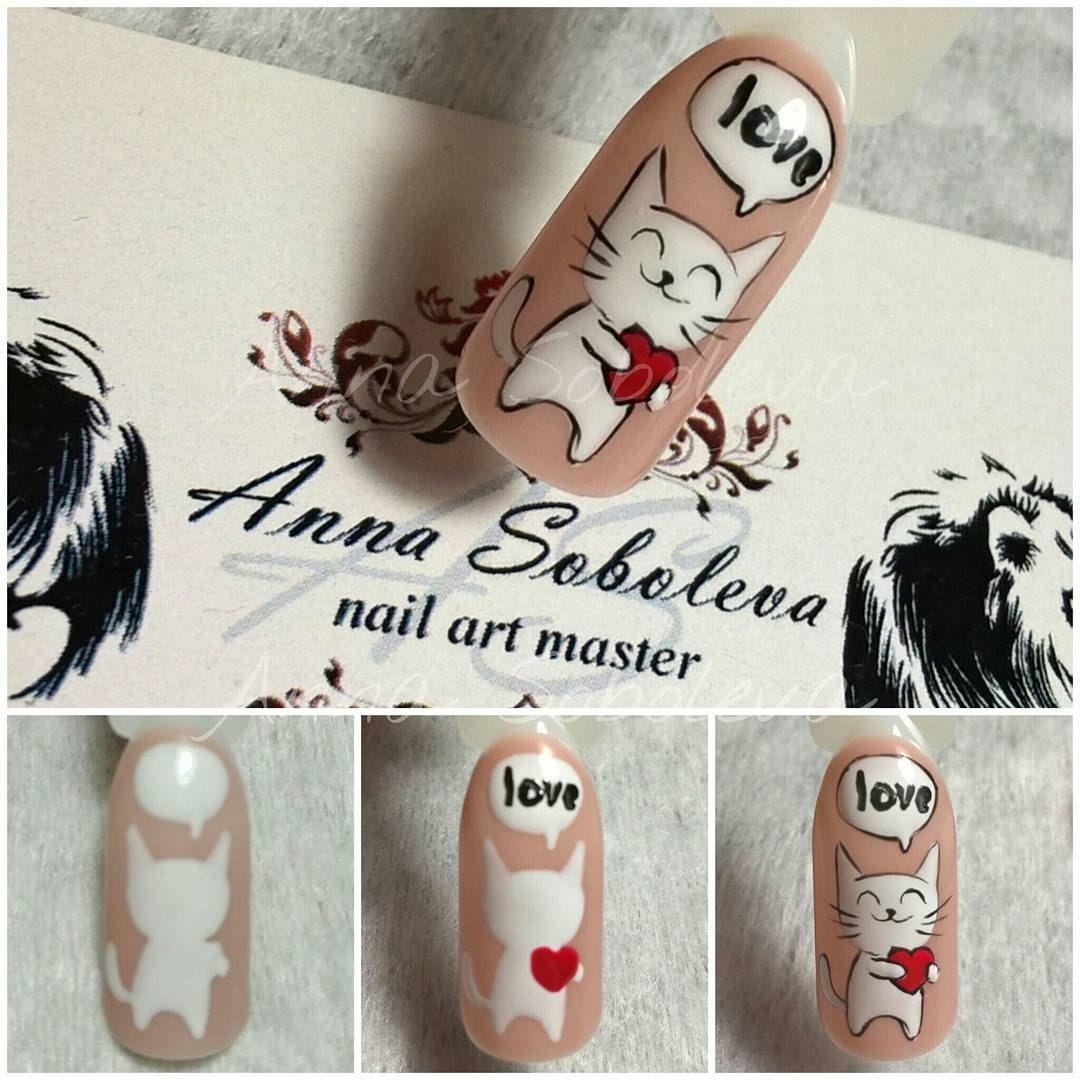 Смешные рисунки на ногтях пошагово, совместной
