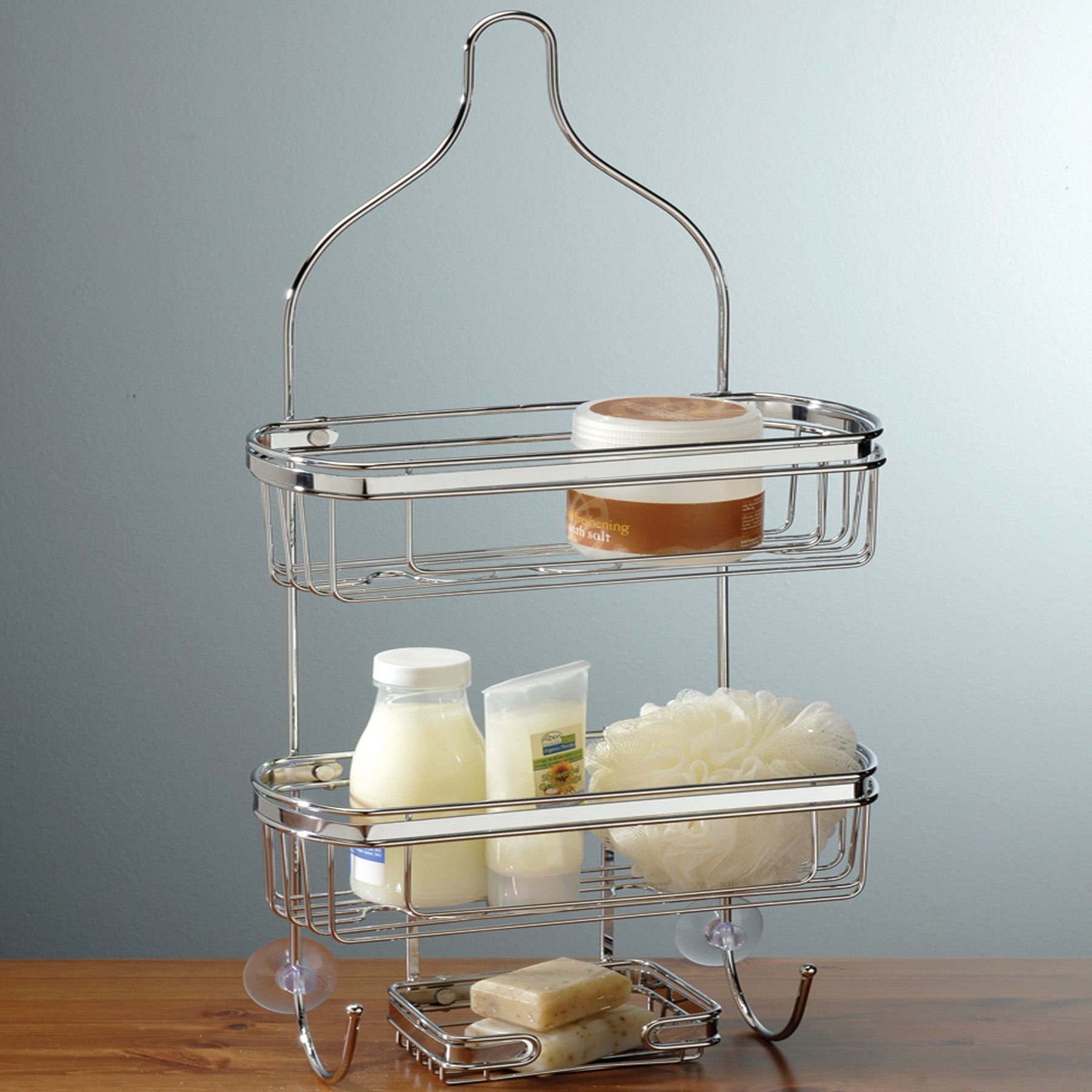 TWO TONE SHOWER CADDY - Chrome | Chrome, Bath accessories and Metals