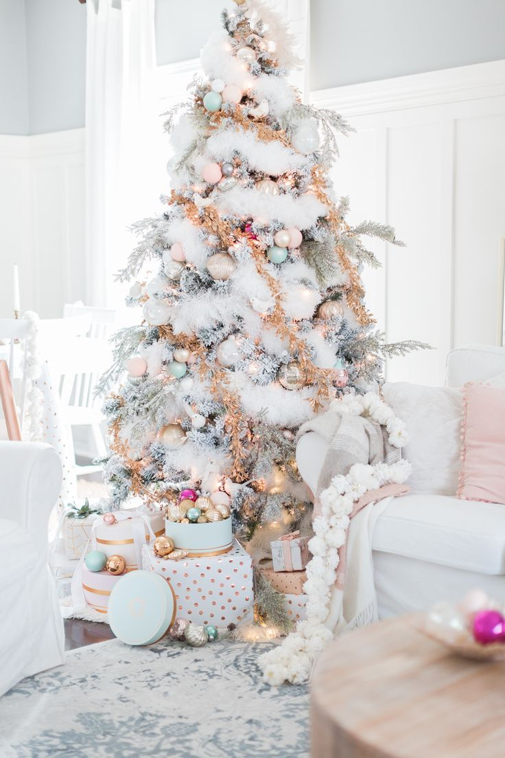 christmas tree pastel christmas decor craftberrybush - Pastel Christmas Decorations