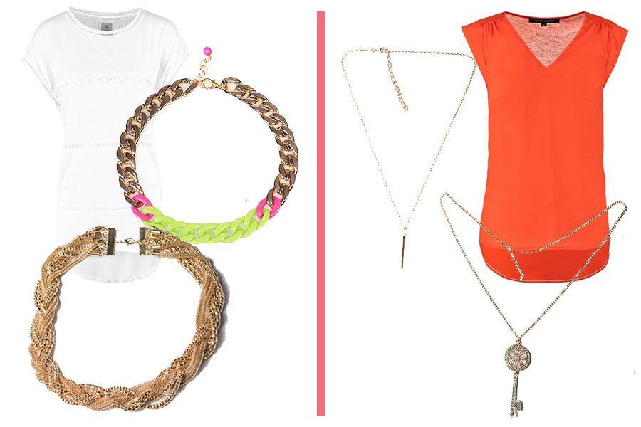 Okragly Dekolt Tuz Przy Szyi I Dekolt W Ksztalcie V Chain Necklace Necklace Jewelry