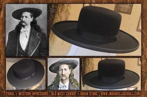 caf6db90a 5 X Beaver Fur Quality Old West Wild Wide Flat Brim Bill Hickok ...
