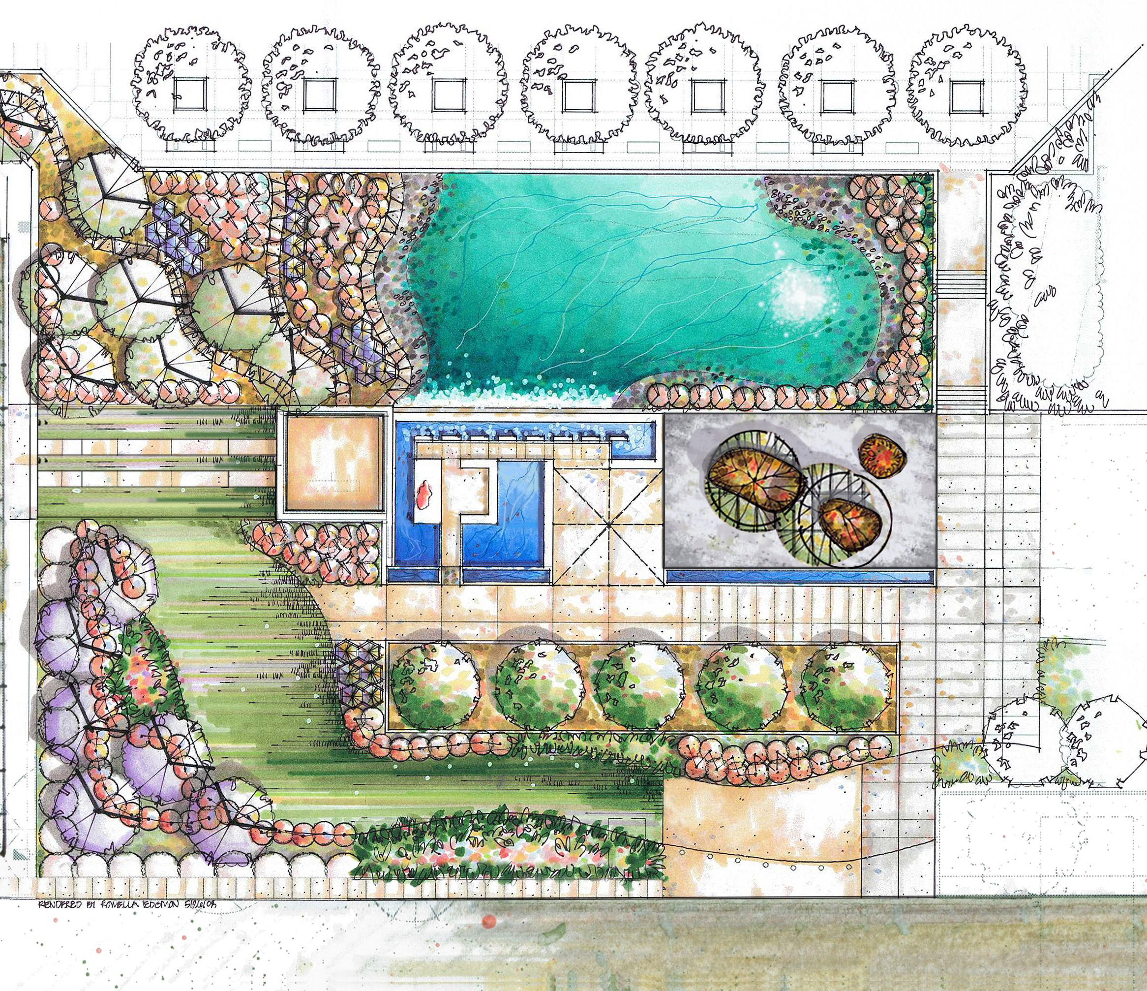 Design pencil landscape specialize your full landscape the for Sample landscape plan