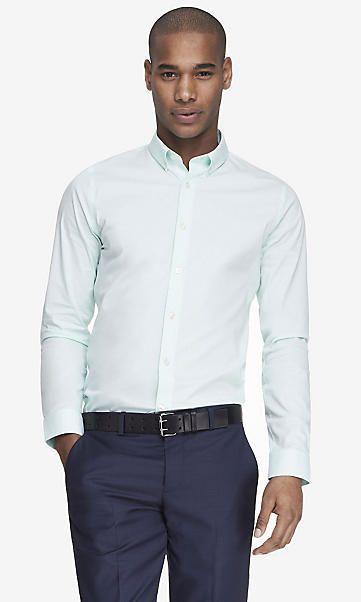 extra slim 1mx button-down collar shirt  ef429fc1416f7
