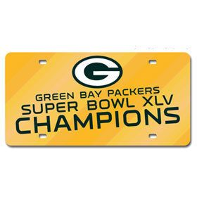 Green Bay Packers Super Bowl 45 Champion Laser Cut Green License Plate Z157-9474646874_45P