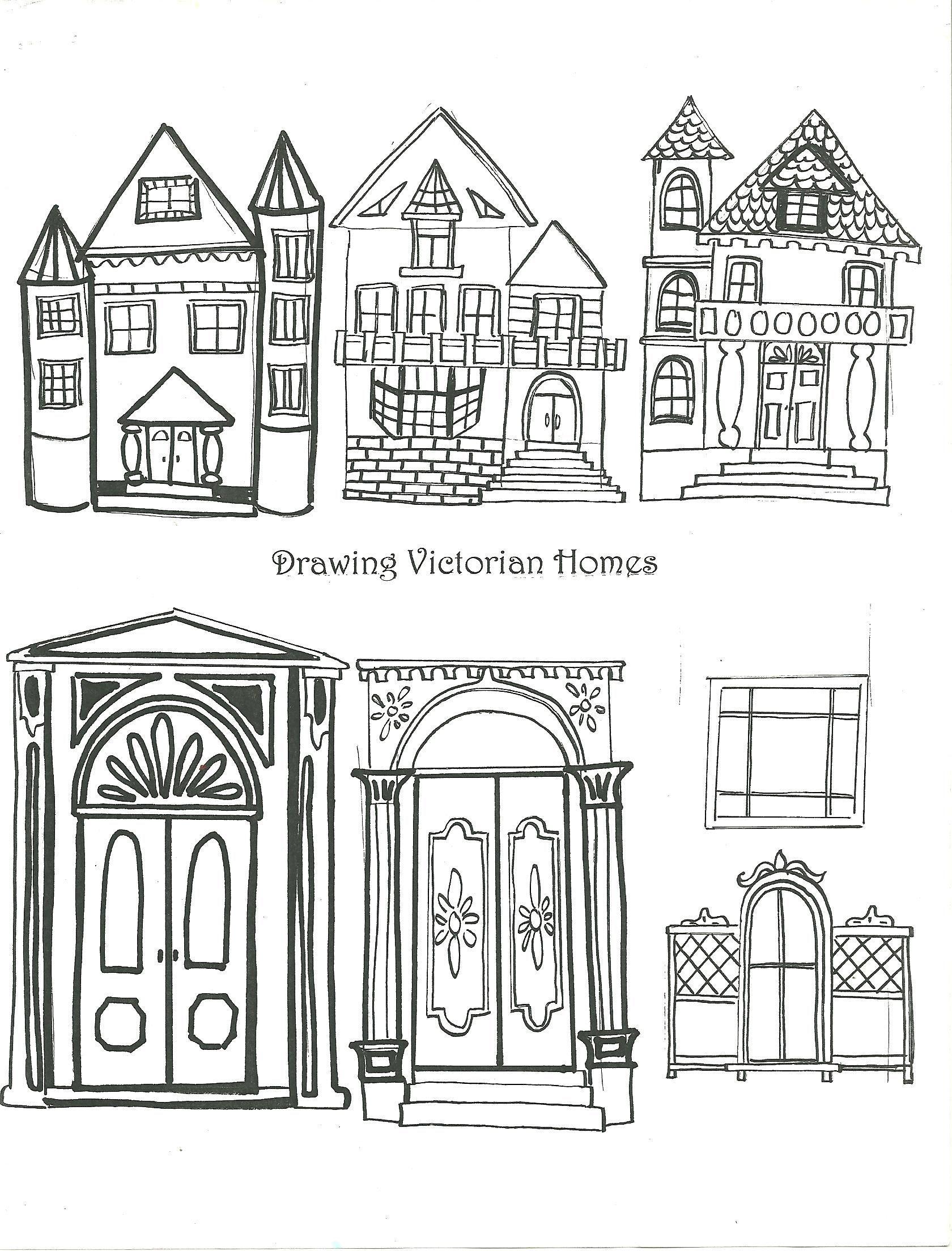 Examples of Victorian Homes Handout.....art element:Shape | ART ...