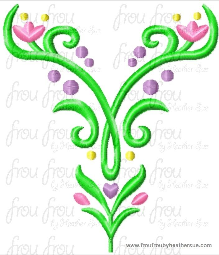 frozen embroidery designs $6.00