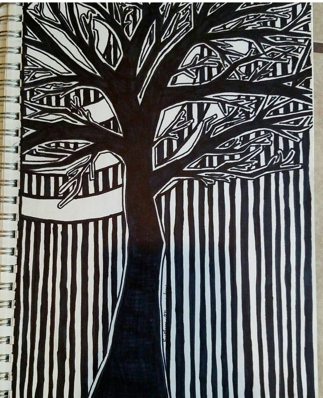 An old Sharpie piece from my sketchbook